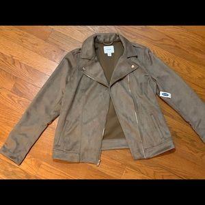 Old Navy suede moto jacket
